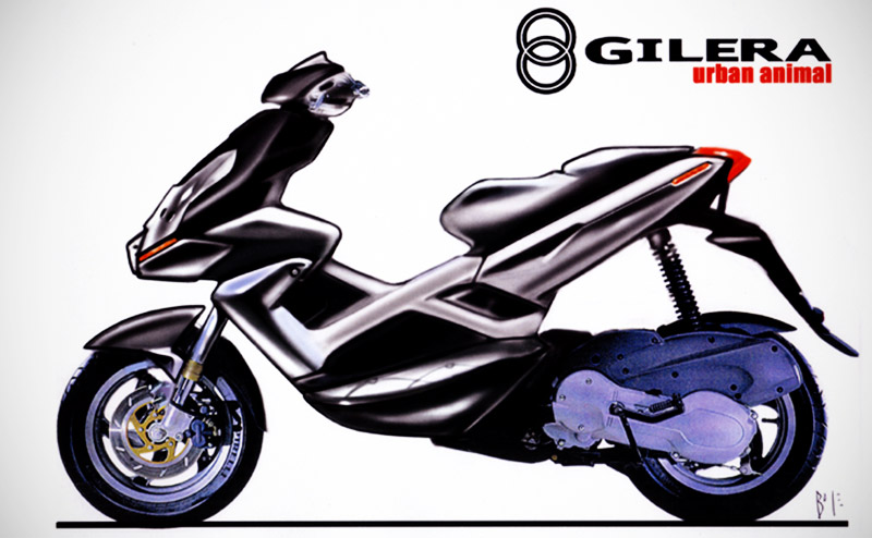 SKETCH FOR GILERA RUNNER のコピー