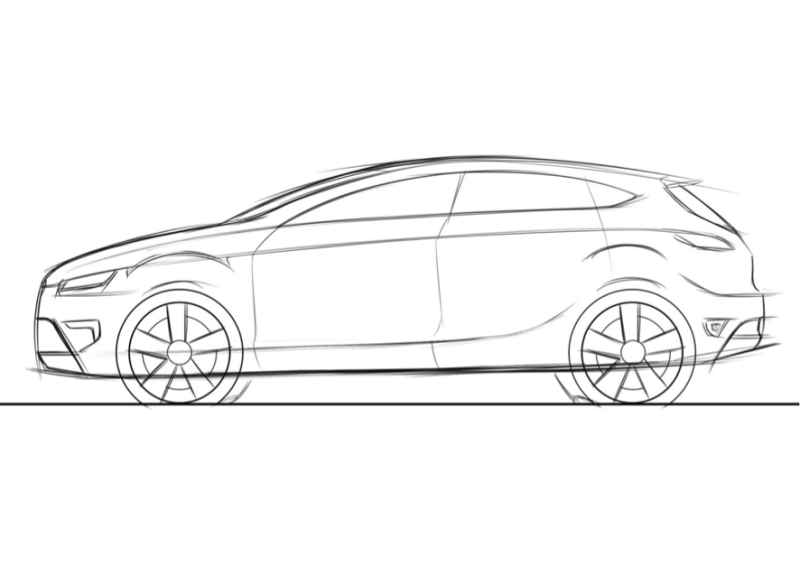 Q: What should I be careful with for drawing side view sketch? | Car ...