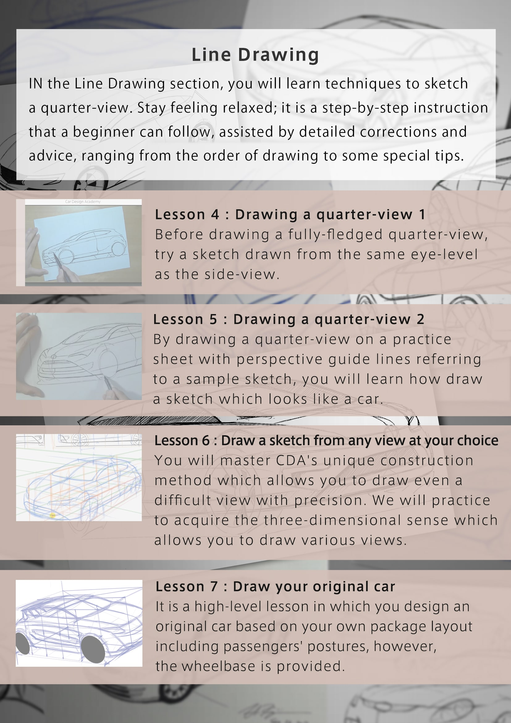 Everyone can improve sketching | Car Design Total Course – Period I ...